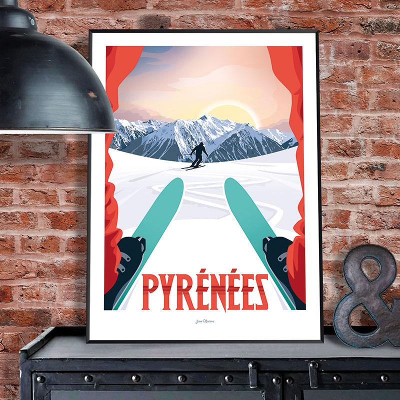 affiche-les-chauvins-pyrennes-ski