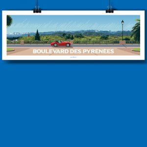 Pau en version panoramique, voici la nouvelle affiche de jean navarre pour les chauvins, boutique concept à Pau