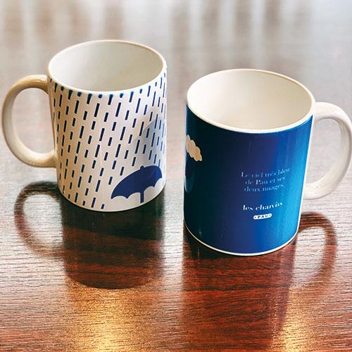le mug Les chauvins est une création exclusive pour les chauvins : une série d'objets culinaires qui met en valeur la ville de Pau et son art de vivre